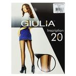 Giulia Inscription Nero Tights 20 den size 4