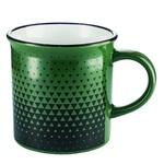 Чашка Actuel зеленые треугольники 350мл