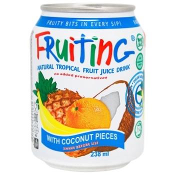 Напій Фрутінг з соком тропічних фруктів 238мл - buy, prices for Auchan - photo 1