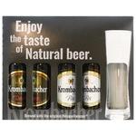 Набір пива Krombacher 4х0,33л + келих