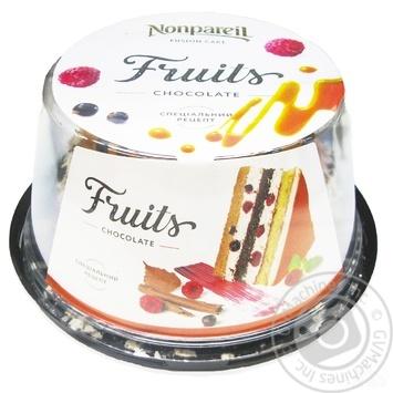 Торт Nonpareil фрукты в шоколаде 600г - купить, цены на Ашан - фото 1