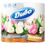Toilet paper Divo Econom white 2 ply 4 pcs Ukraine
