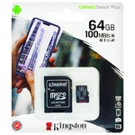 Карта пам'яті Kingston Canvas Select Plus + SD adapter 64GB