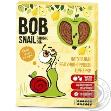 Цукерки Bob Snail яблучно-грушеві натуральні 120г - купити, ціни на МегаМаркет - фото 1