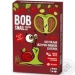 Цукерки Bob Snail натуральні яблучно-вишневі 60г