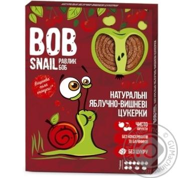 Конфеты Bob Snail яблочно-вишневые натуральные 120г - купить, цены на Метро - фото 1