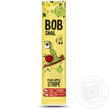 Цукерки Bob Snail грушево-яблучний страйп 14г - купити, ціни на МегаМаркет - фото 1