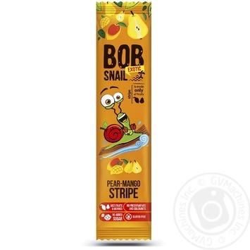 Конфеты Bob Snail грушево-манговый страйп 14г - купить, цены на Метро - фото 1