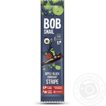 Цукерки Bob Snail яблучно-чорносмородиновий страйп 14г - купити, ціни на МегаМаркет - фото 1