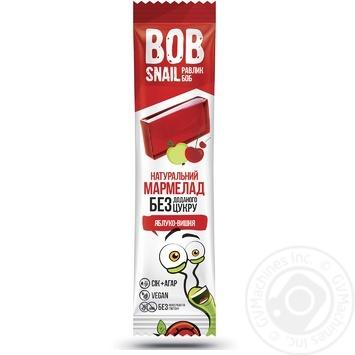 Мармелад Bob Snail фруктово-ягiдний Яблуко-Вишня без цукру 38г - купити, ціни на МегаМаркет - фото 1