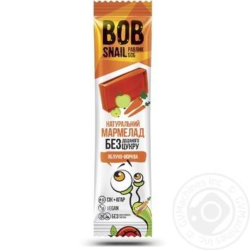 Bob Snail free sugar apple-carrot fruit jellies 38g - buy, prices for MegaMarket - image 1