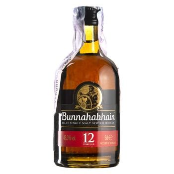 Виски Bunnahabhain 12 лет 46.3% 50мл - купить, цены на СитиМаркет - фото 1