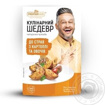 Натуральная приправа Pripravka для блюд из картофеля и овощей Кулинарный Шедевр 30г - купить, цены на Novus - фото 1