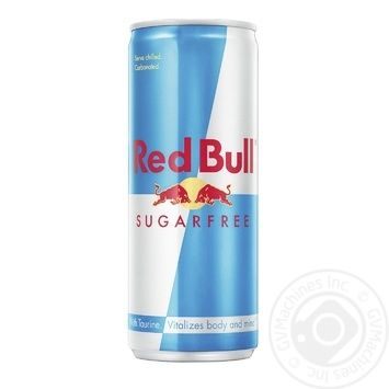 Напиток энергетический Red Bull безалкогольный без сахара ж/б 0,25л - купить, цены на МегаМаркет - фото 1