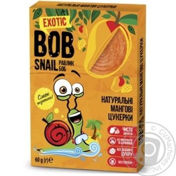 Конфеты Bob Snail натуральные манговые 60г - купить, цены на Novus - фото 1