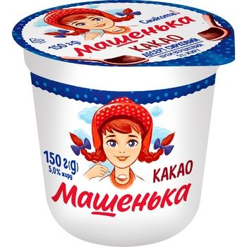 Mashenka Cocoa Flavored Cottage Cheese Dessert 5% 150g