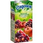 Нектар Садочок яблочно-виноградный из красных сортов 0,95л