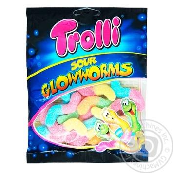 Цукерки Trolli Кислі світлячки фруктові жувальні 100г - купити, ціни на Ашан - фото 1