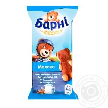 Пирожное Медвежонок Барни бисквитное с молочной начинкой 30г - купить, цены на Novus - фото 1