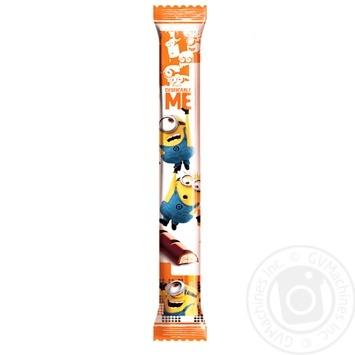 Шоколад молочный Любимов Kids Minions с молочной начинкой и бисквитом 38г