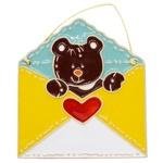 Teddy Bear in Envelope Decoration 13.5х15cm