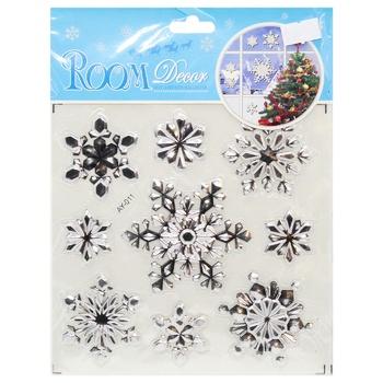 Наклейки на окна новогодние в ассортименте - купить, цены на МегаМаркет - фото 3