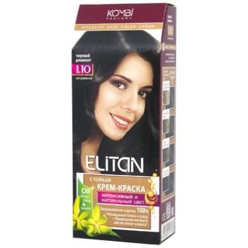 Фарба для волосся Елітан інтенсив №1.10 Чорний діамант - купити, ціни на ЕКО Маркет - фото 1