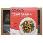 Набір Кукбокс для приготування гречаної локшини з філе курки та овочами 554г