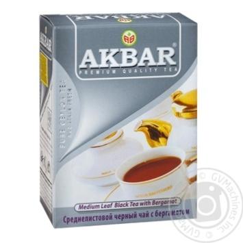 Чай черный Akbar Earl Grey 100г - купить, цены на МегаМаркет - фото 1