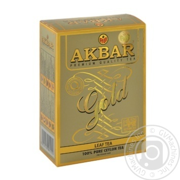 Tea Akbar black loose 100g cardboard packaging - buy, prices for MegaMarket - image 1