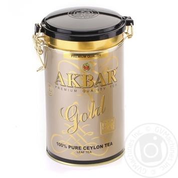 Tea Akbar black loose 225g can - buy, prices for MegaMarket - image 1