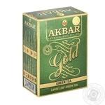 Tea Akbar green loose 100g cardboard packaging - buy, prices for Novus - image 1