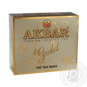 Чай Akbar Premium Quality Gold черный 100*2г - купить, цены на МегаМаркет - фото 1