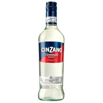 Вермут Cinzano Bianco белый сладкий 15% 0,5л - купить, цены на СитиМаркет - фото 1