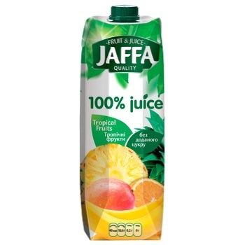 Сок Jaffa 100% juice Мультифруктовый Тропические фрукты без добавленного сахара 0,95л