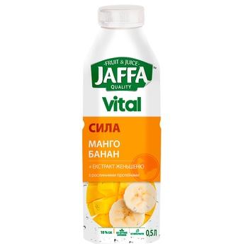 Напиток сокосодержащий Jaffa Vital Сила манго-банан с экстрактом женьшеня и растительными протеинами 0,5л