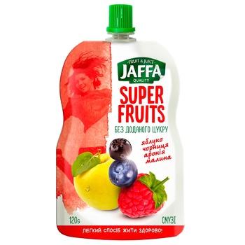 Смузи Jaffa Super Fruits из перетертых яблок, черники, аронии и малины 120г - купить, цены на СитиМаркет - фото 1