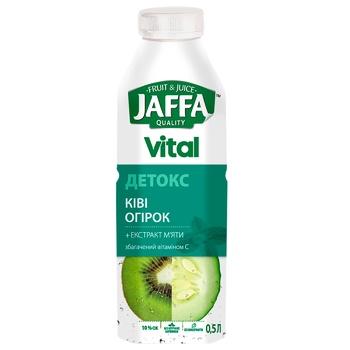 Напиток с соком Jaffa Vital Детокс Киви-Огурец с экстрактом мяты, обогащенный витамином С 0,5л