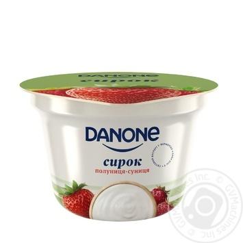 Сырок Danone клубника-земляника 3,4% 170г - купить, цены на Фуршет - фото 1