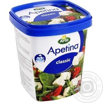 Сыр Арла Апетина Датский брынза в рассоле кубиками 50% 200г - купить, цены на МегаМаркет - фото 1