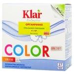 Порошок пральний Klar Eco Sensitive для кольорових речей органічний для всіх типів прання 1,375кг