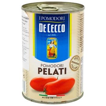 Томаты De Cecco очищенные в собственном соку 400г