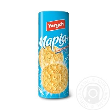 Печенье Yarych Мария с молоком и кальцием 155г - купить, цены на Ашан - фото 1