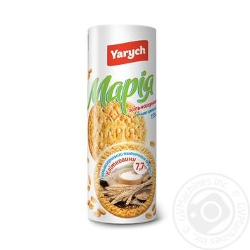Печиво Yarych Марія цільнозернове 155г - купити, ціни на МегаМаркет - фото 1