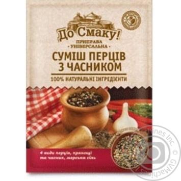 Приправа Суміш перців з часником До Смаку 25г - купити, ціни на Novus - фото 1