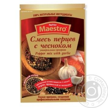 Приправа Смесь перцев с чесноком Red Hot Maestro 25г - купить, цены на Novus - фото 1