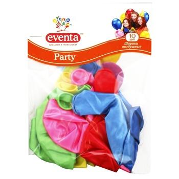 Шарики воздушные Eventa разноцветные 8шт 30см - купить, цены на Ашан - фото 1
