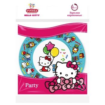 Тарелки бумажные Eventa hello kitty 6шт*18см - купить, цены на Фуршет - фото 2