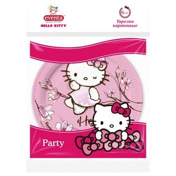 Тарелки бумажные Eventa hello kitty 6шт*18см - купить, цены на Фуршет - фото 3