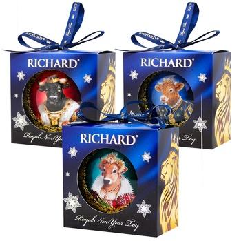 Чай Richard  Royal New Year Toy чорний  20г в асортименті